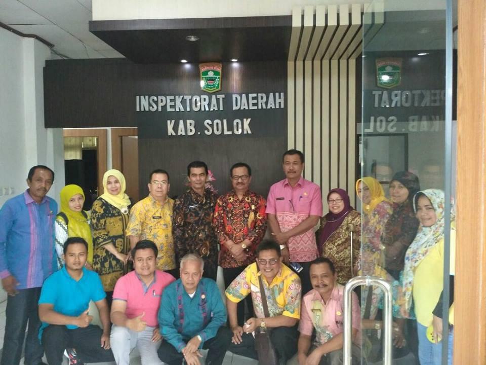 Kunjungan kerja inspektoratkab 50 kota ke inspektorat kab solok